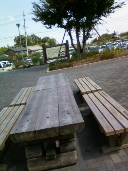 道の駅・月見の里南濃の休憩広場