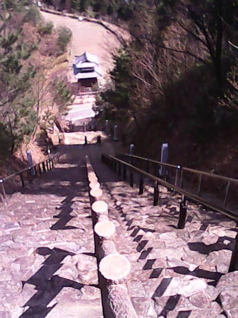 月見の里南濃月見の森の山の灯台への坂