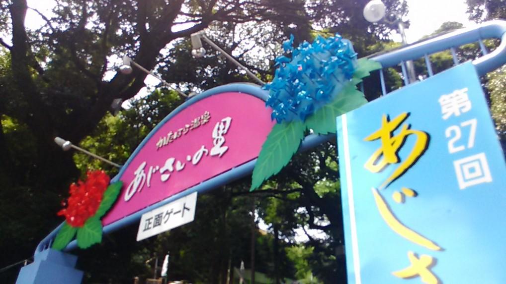 形原温泉あじさいの里(祭り)の駐車場と入場料・入口付近(愛知県蒲郡市)