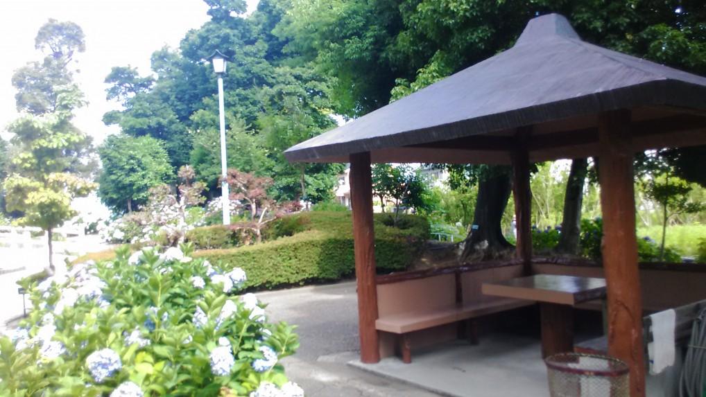 大塚性海寺公園あじさい休憩所