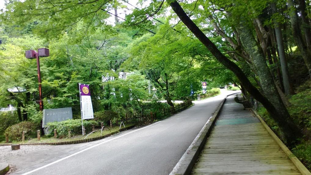 第一駐車場から歩きはじめの道