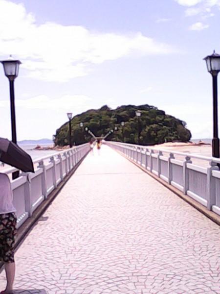 竹島へ渡る橋