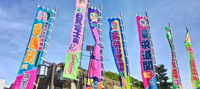 大相撲名古屋場所初日2015年・会場付近の様子です