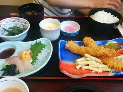 愛知県春日井市の和食どころ「黒潮」海老フライ定食