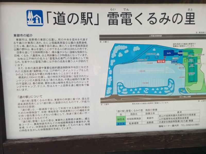 道の駅電電くるみの里案内版