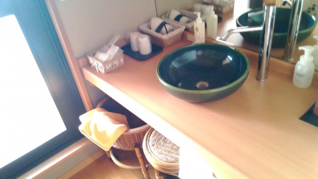 美ヶ原温泉ホテルニューことぶきの特別室の洗面所