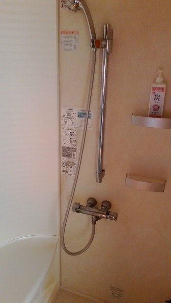 美ヶ原温泉ホテルニューことぶきの特別室のシャワー室