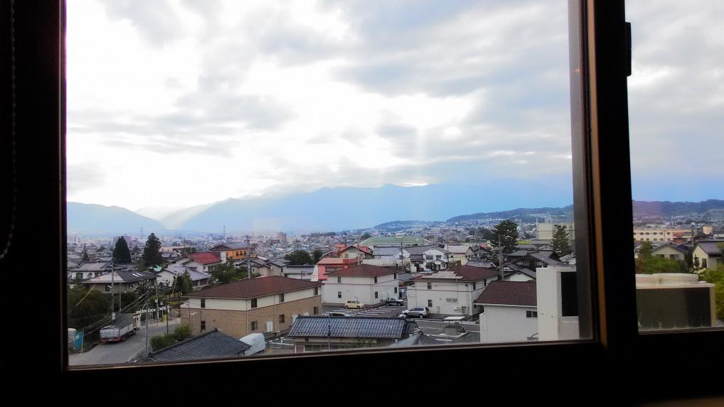 美ヶ原温泉ホテルニューことぶきの特別室からの景色