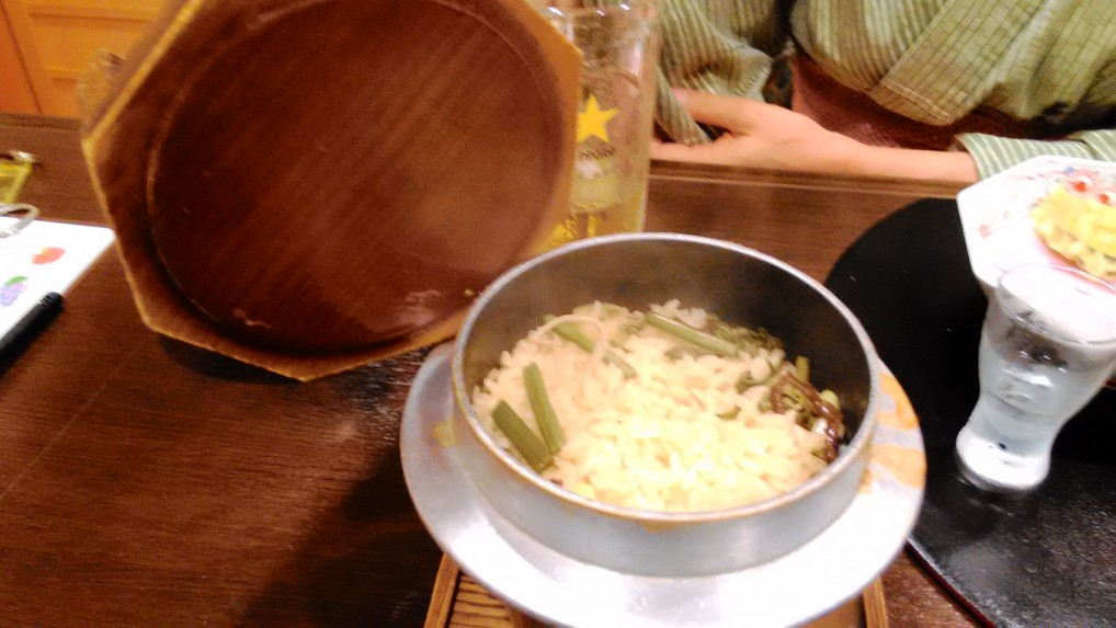 美ヶ原温泉ホテルニューことぶき夕食釜飯