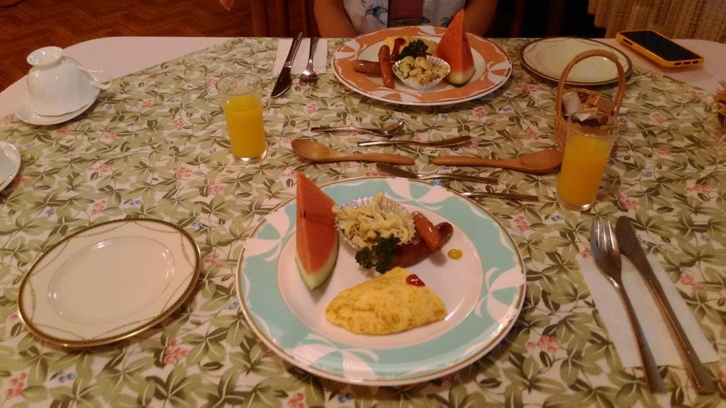 ペンションオフタイム朝食