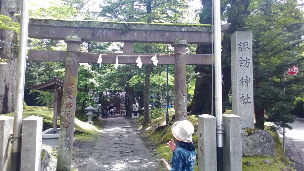 旧軽井沢別荘地の風景諏訪神社