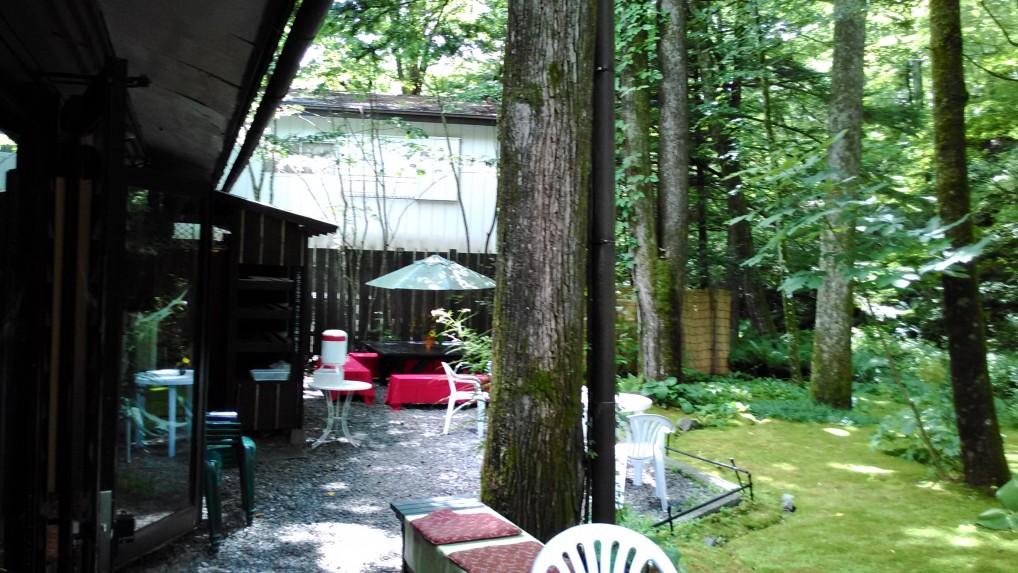 軽井沢三笠茶屋屋外のガーデン
