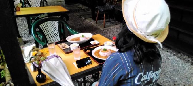 軽井沢「三笠茶屋」で幻の三笠ホテルカレー・清涼感につつまれここだけの逸品を