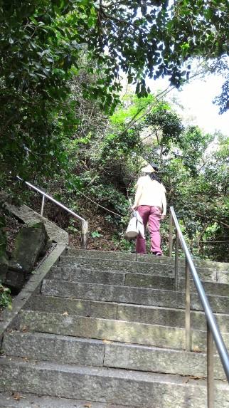 師崎の羽豆神社への急階段