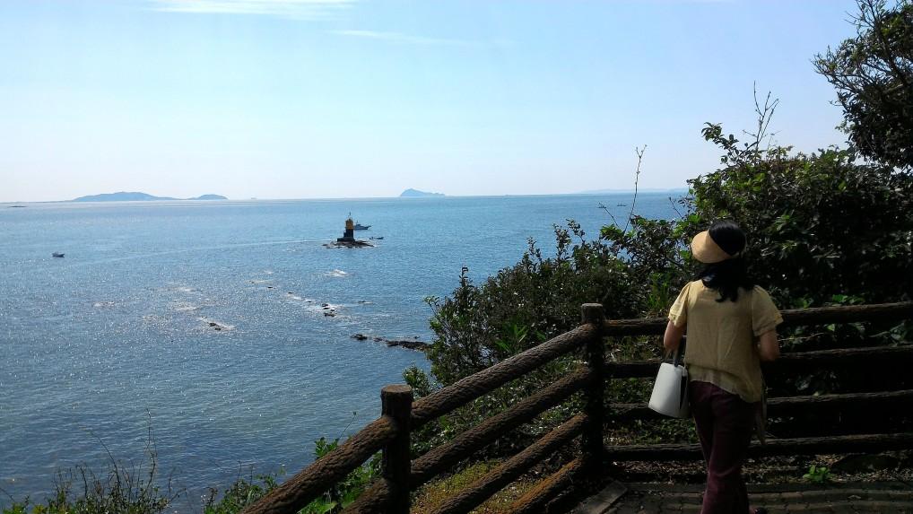 師崎羽豆神社本殿の展望台からの景色からの見晴し