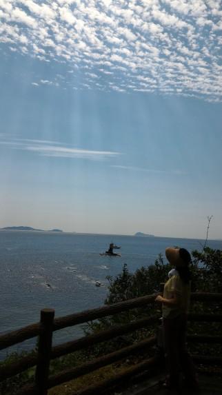 師崎羽豆神社の展望台からの景色