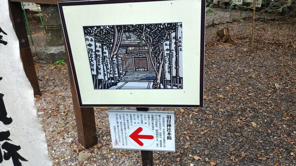 師崎羽豆神社の本殿案内版