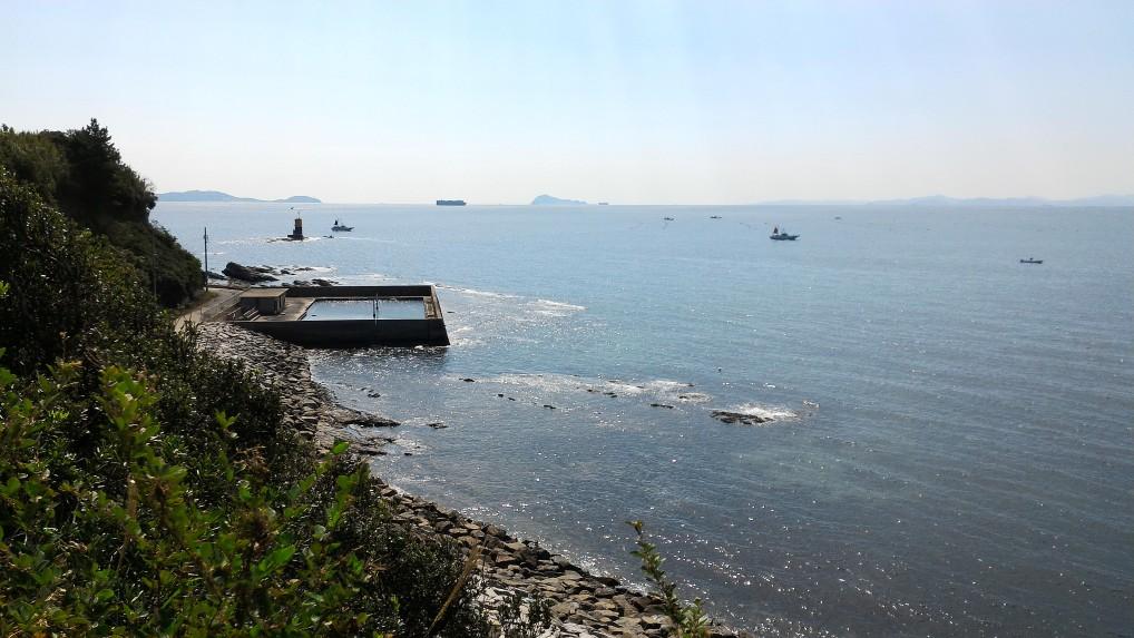 羽豆岬恋のロマンスロードからの海の景色