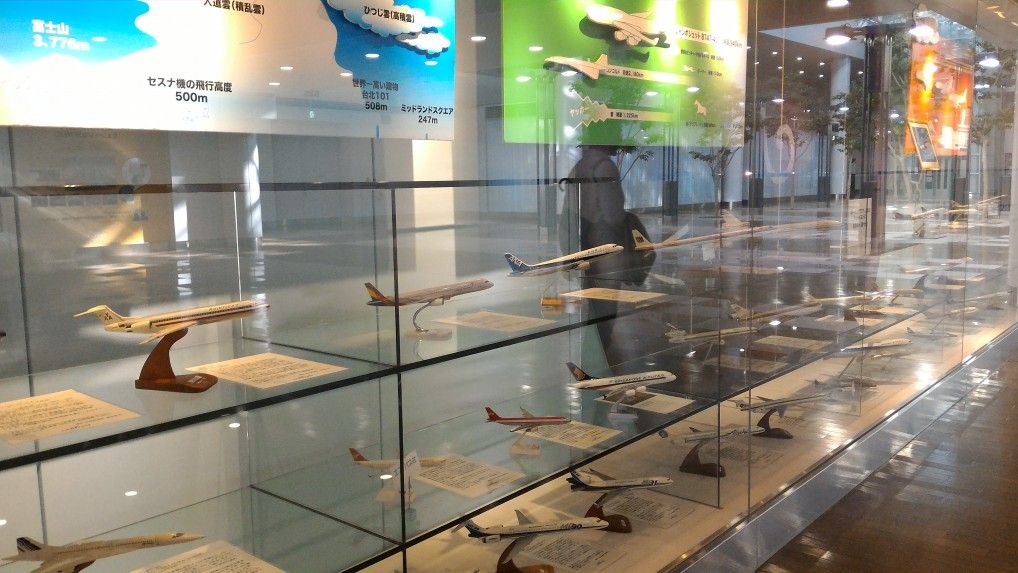 中部国際空港セントレア飛行機模型展示