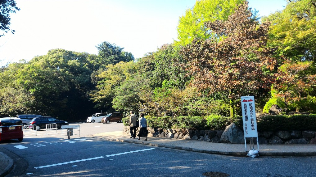 熱田神宮東門駐車場付近