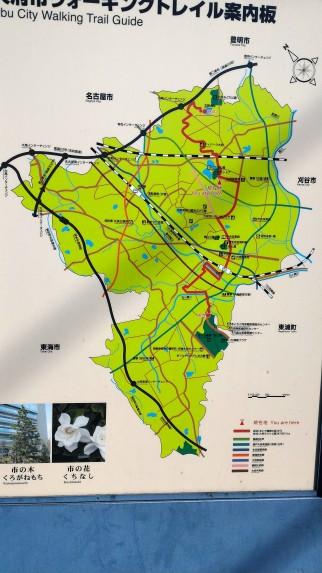 愛知県大府市地図