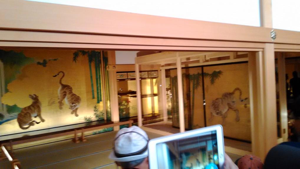 名古屋城本丸御殿のふすま模写と本物