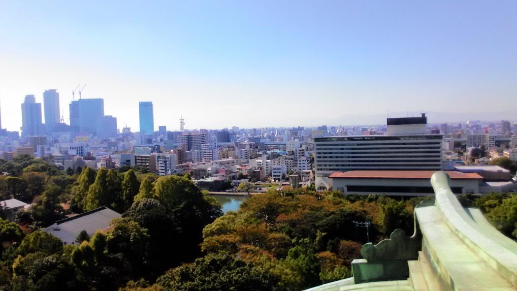 名古屋城天守閣最上階からの展望