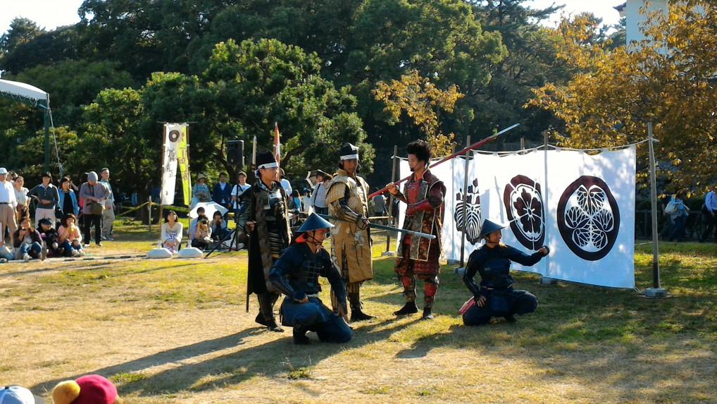 名古屋おもてなし武将隊の名古屋城での演武