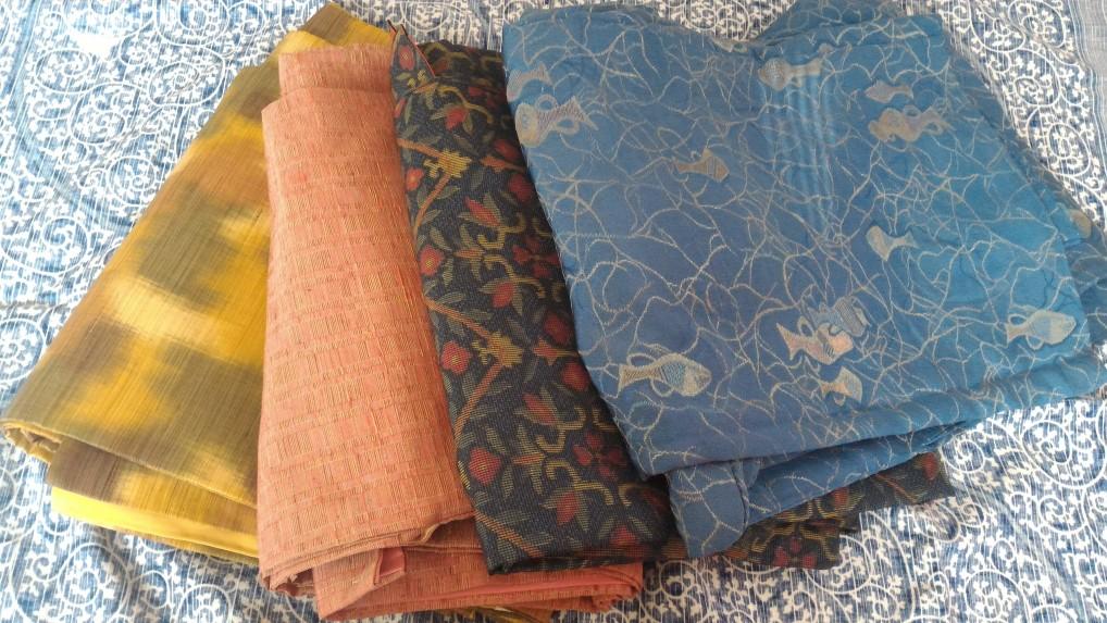 大須観音の骨董市での着物の戦利品