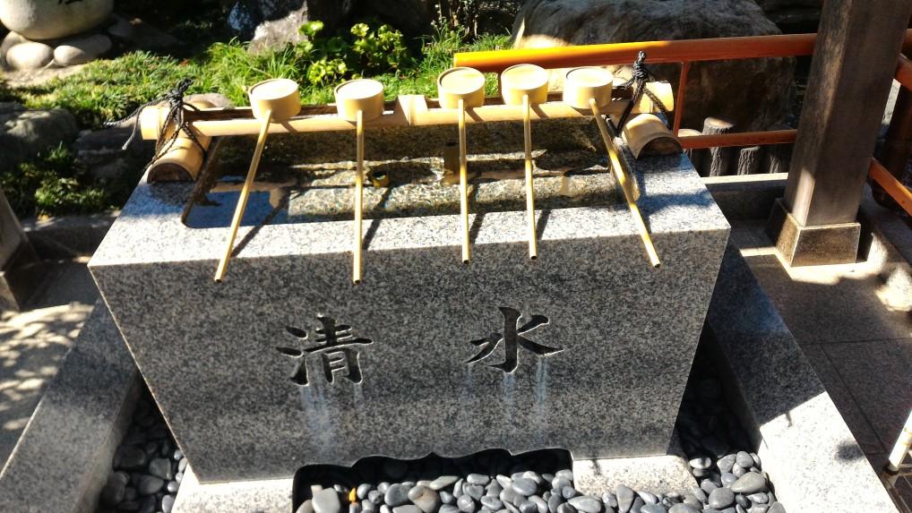 「尾張猿田彦神社」愛知県一宮市の手水舎