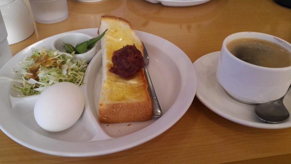 愛知県一宮市奥町「ありすかふぇ」さんのおぐらトーストのモーニングサービスセット