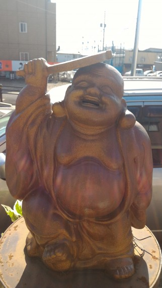 「布袋駅」愛知県江南市・プラタナス通りの布袋像