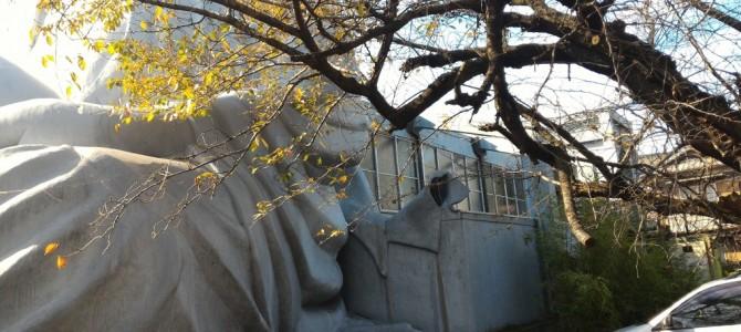 布袋の大仏様「御嶽薬師尊」日本一の大きさで病気平癒を願う