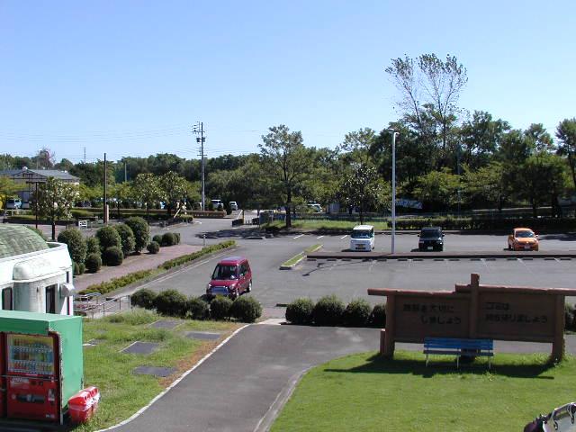 木曽川祖父江緑地の駐車場