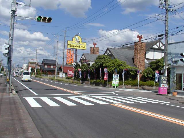 田県神社(愛知県小牧市)の入り口前の通りの様子
