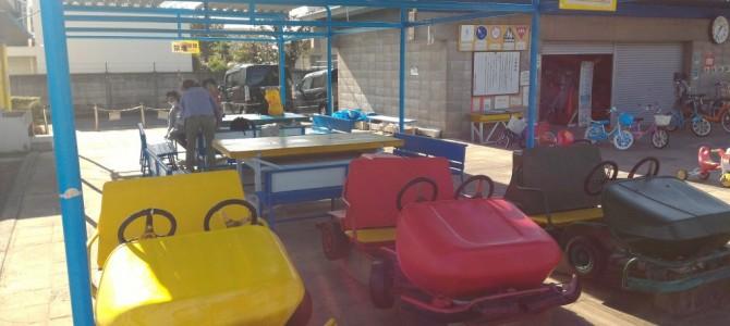 江南市交通児童遊園・自転車三輪車を借りて遊んで学べる・遊具もあり(愛知県江南市)