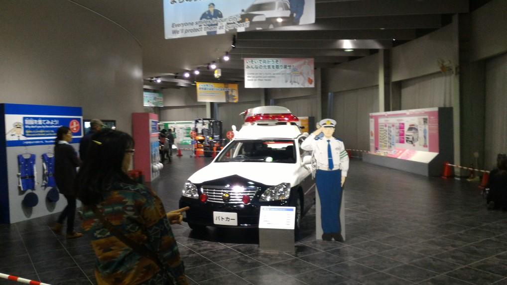 本館二階のはたらく自動車コーナー「トヨタ博物館」