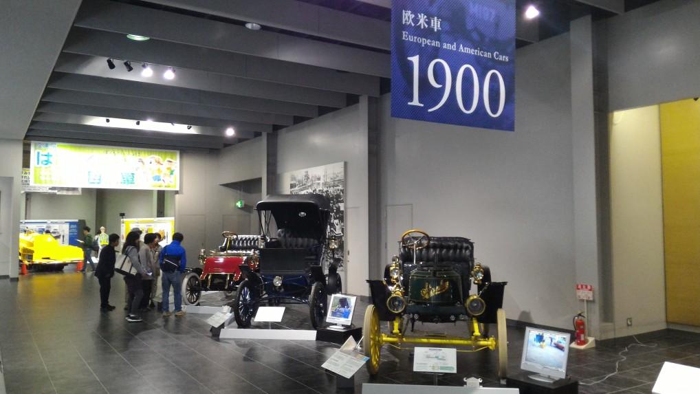トヨタ博物館二階の欧米車1900年ごろ