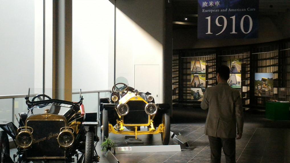 トヨタ博物館二階の欧米車1910年ごろ