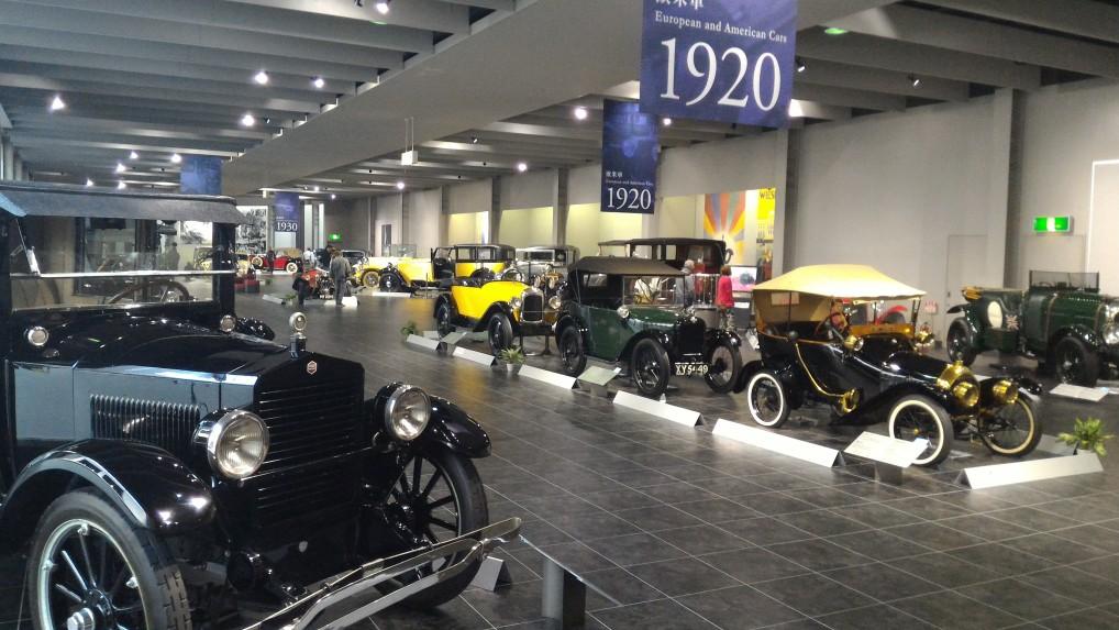 トヨタ博物館二階の欧米車1920年ごろ