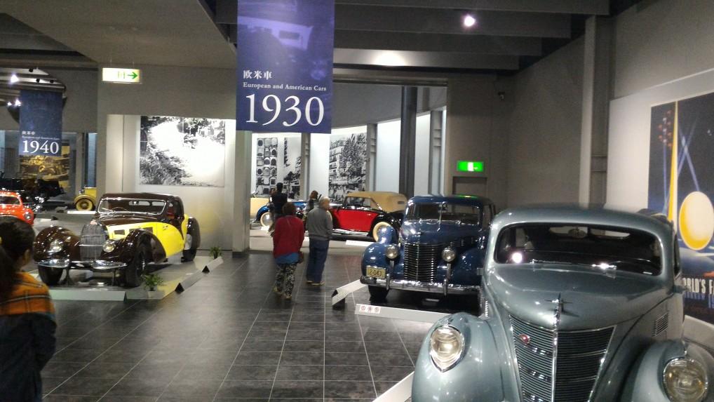 トヨタ博物館二階の欧米車1930年ごろ