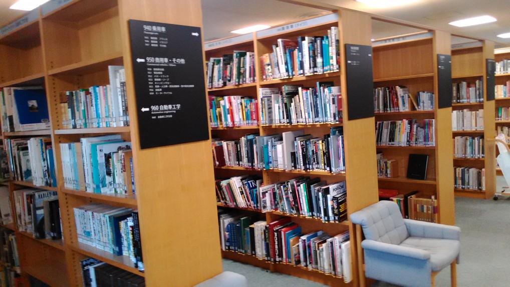 トヨタ博物館新館三階の図書館の蔵書