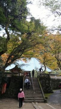 香嵐渓の香積寺に上がる階段