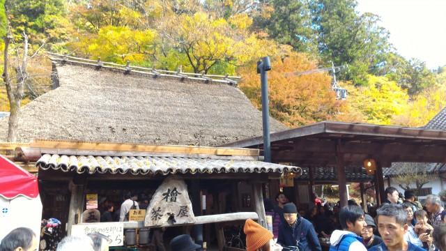 香嵐渓の「桧茶屋」さん外観