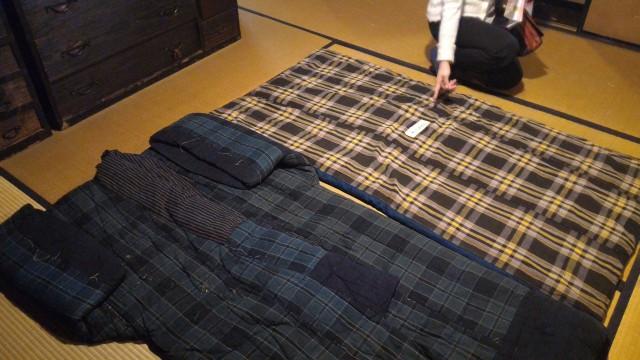 香嵐渓「三州足助屋敷」母屋の藁布団