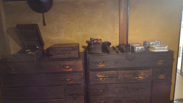 香嵐渓「三州足助屋敷」母屋の家具や家庭用品
