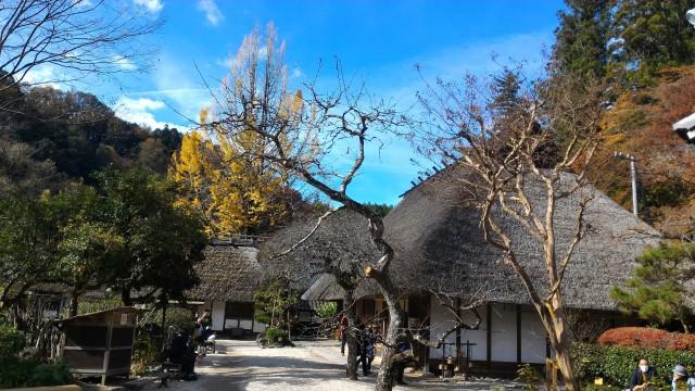 香嵐渓「三州足助屋敷」内の風景