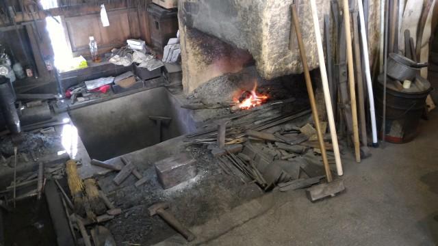 香嵐渓「三州足助屋敷」鍛冶屋さんの作業場