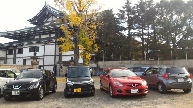 覚王山日泰寺の北門の無料駐車場