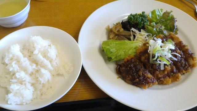 春日井市役所の展望レストランオガッシ食堂さんの味噌カツライス付き
